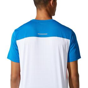 asics Race SS Top Men, wit/blauw